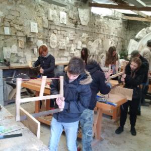Une semaine « chantier du patrimoine » pour toute une classe