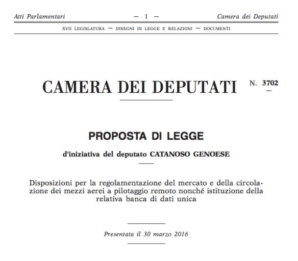 Proposta di legge 3702