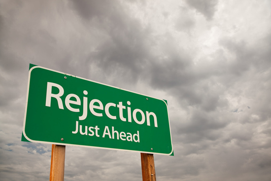Rejection -- it's inevitable (image courtesy of www.bringingbackawesome.com)