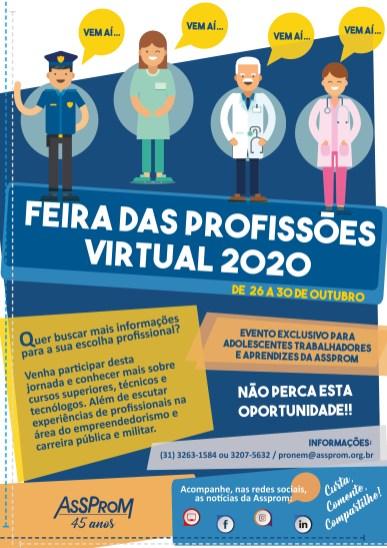 Cartaz FEIRA DAS PROFISSÕES_2020.1