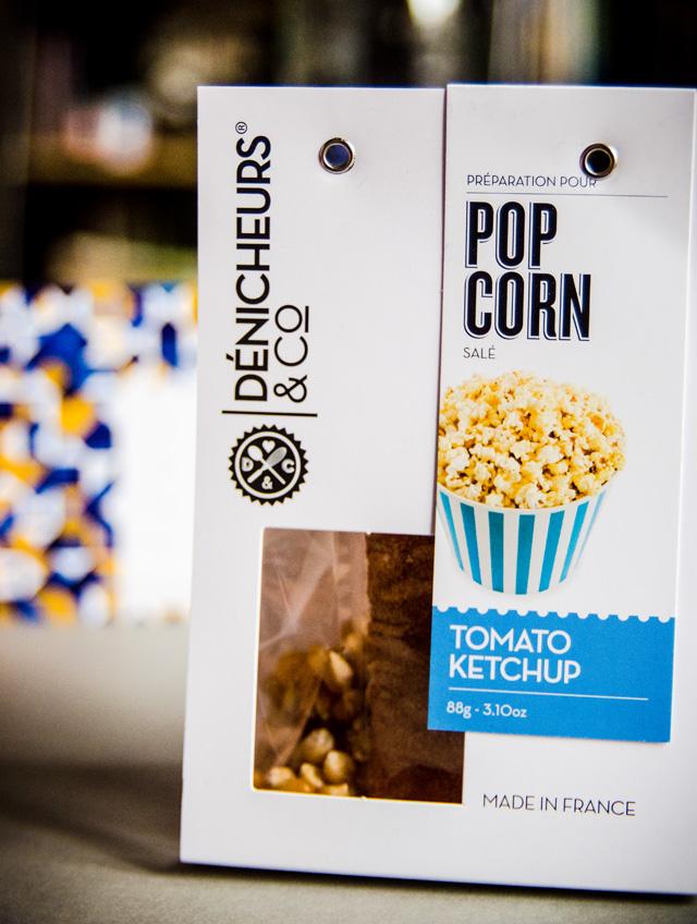 La gourmandise : du pop corn tomato ketchup par les Dénicheurs & Co. Trop hâte d'y goûter !