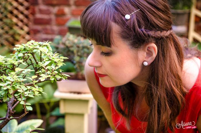 Assuna 2015/2016 - Boucles d'oreilles et barrette boutons anciens - Blanche petit modèle