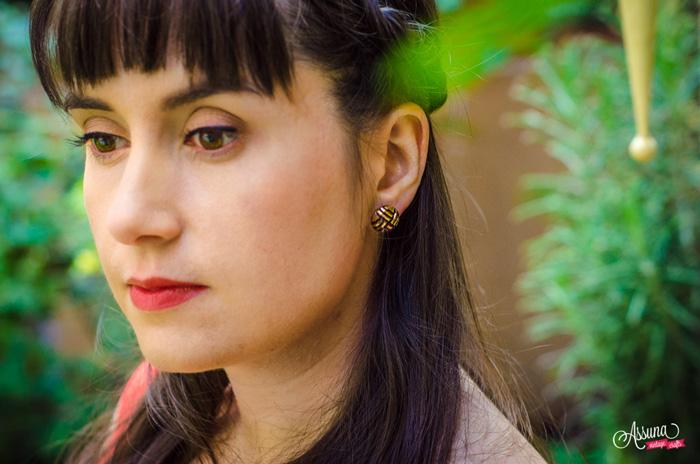 Assuna 2015/2016 - Boucles d'oreilles et barrette boutons anciens - Henriette