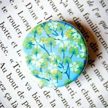 Badge Sakura Bleu 2