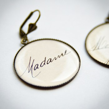 Boucles Madame Monsieur carte postale