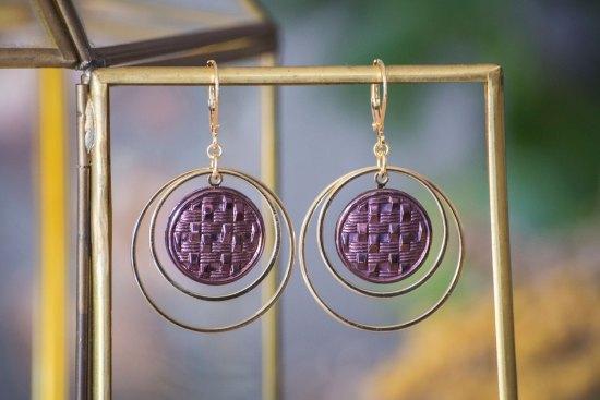 Assuna - Grandes boucles Lunare Cécile bronze- inspiration vintage