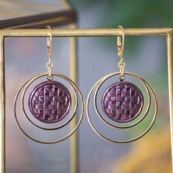 Grandes boucles Lunare Cécile bronze