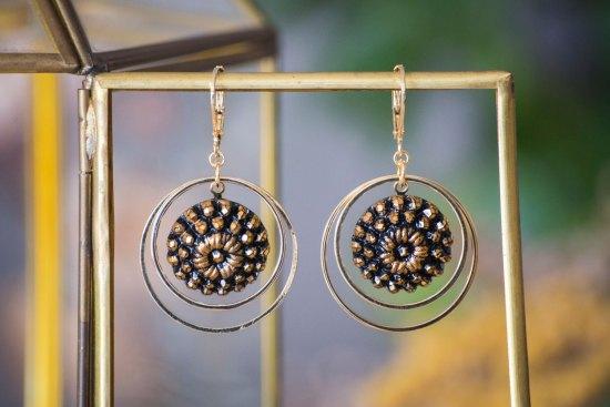 Assuna - Grandes boucles Lunare Marthe doré - inspiration vintage