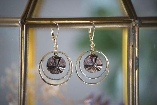 Assuna - Petites boucles Lunare Angèle bronze - inspiration vintage