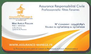 Assurance manège Responsabilité Civile Professionnelle Fêtes Foraines Manèges Catégorie 1