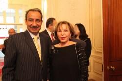 سفيرة البحرين أليس سمعان وسفير سلطنة عمان عبد العزيز الهنائي