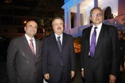 وليد مزهر مع النائبين ياسين جابر وسيمون أبي رميا