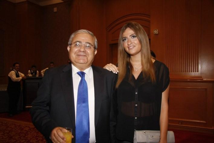 الوزير السابق ماريو عون وكريمته مليسا