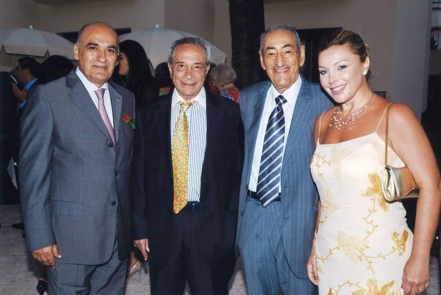 الجنرال إيلي عبيد وقرينته مع الدكتور نبيل يعقوبي وكريم العقابي