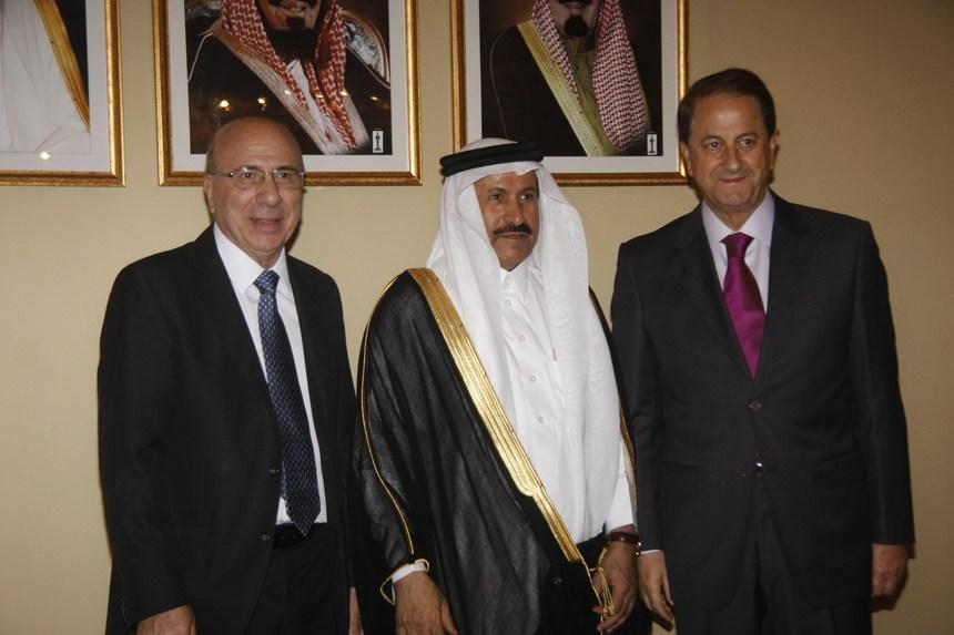 إستقبال حاشد في اليوم الوطني السعودي في بيروت