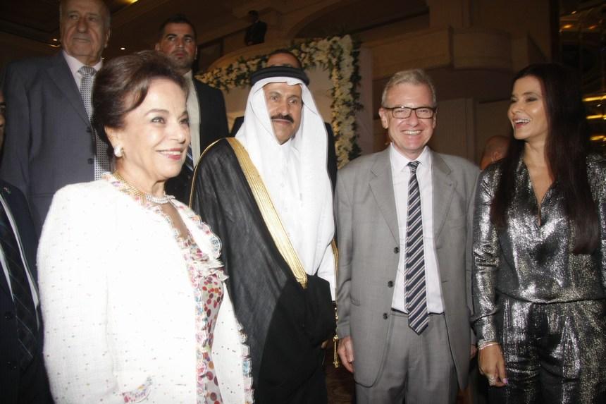ستريدا جعجع، السفير الفرنسي باتريس باولي، السفير السعودي علي عسيري، ونايلة معوض