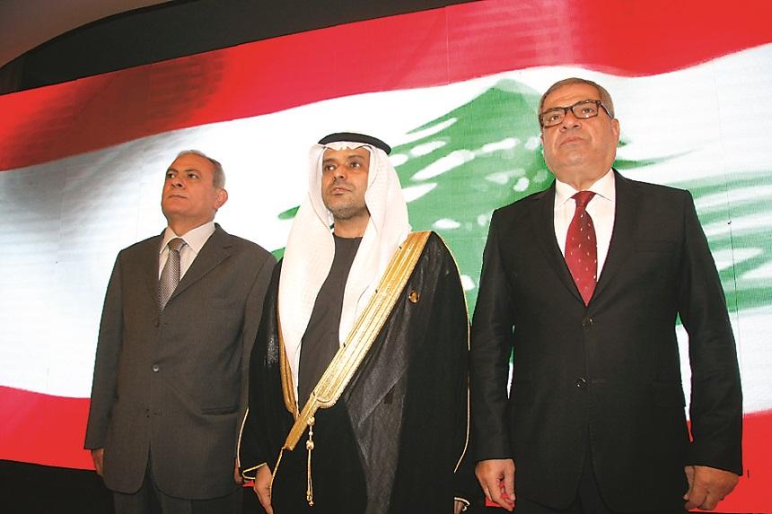 الوزير عبد المطلب الحناوي، القائم بأعمال سفارة الإمارات حمد محمد الجنيبي، النائب أيوب حميّد