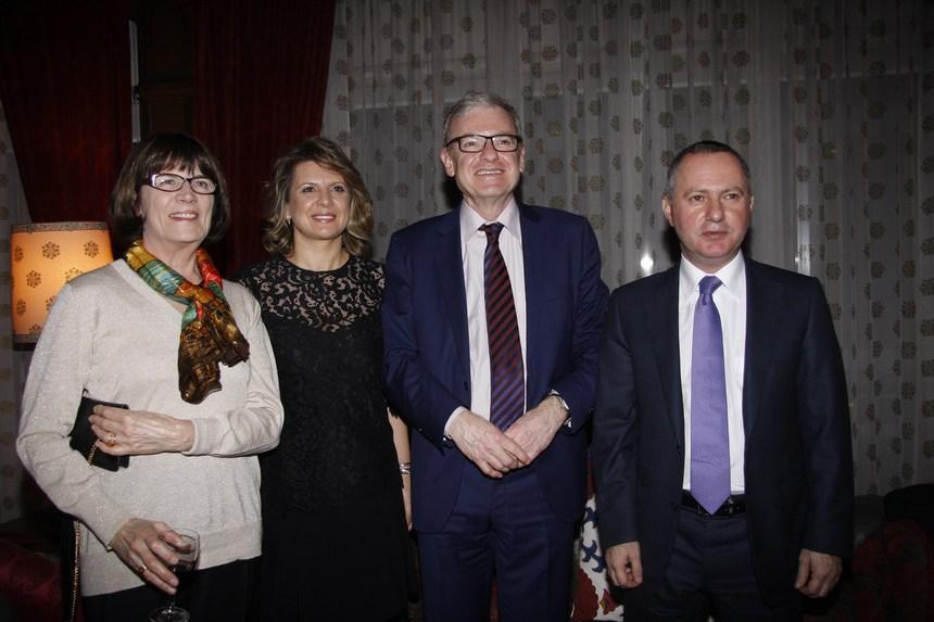الوزير ريمون عربجي والسفير الفرنسي باتريس باولي وقرينتاهما