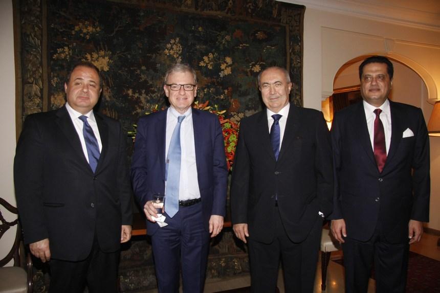 إيلي رزق، السفير الفرنسي باتريس باولي، فؤاد مخزومي، شارل عربيد