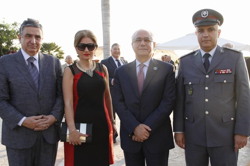 العميد عامر خالد، النائب عمار حوري، لور سليمان، المحامي ناجي البستاني