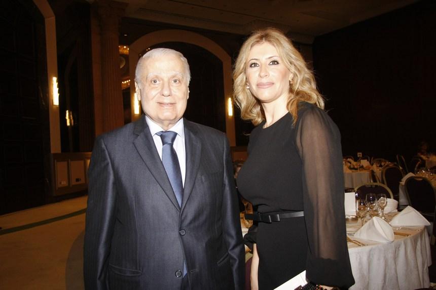 نورما الحداد والوزير السابق الياس حنا