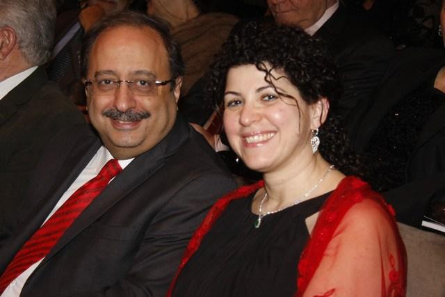 ماريا والنائب غسان مخيبر