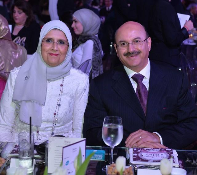 سفير الكويت عبد العال القناعي وعقيلته