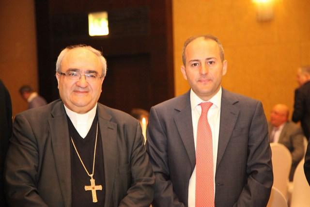 قنصل لبنان طوني فرنجية والمطران مارون ناصر الجميّل