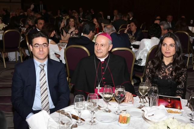 ميريام سكاف، السفير البابوي غبريال كاتشا، الوزير السابق نقولا صحناوي