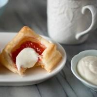 Ginger Rhubarb Tarts with Cardamom Creme Fraiche: Day 5 Irene's Beans