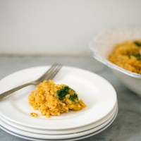 Baked Pumpkin Risotto: No Stir Magic