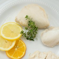 Lemon Poached Chicken Salad with Buttermilk Dressing