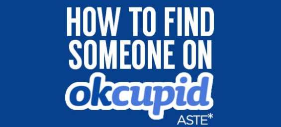 How To Find Someone's OkCupid Profile - Aste