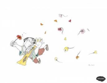 Se lancer des fleurs