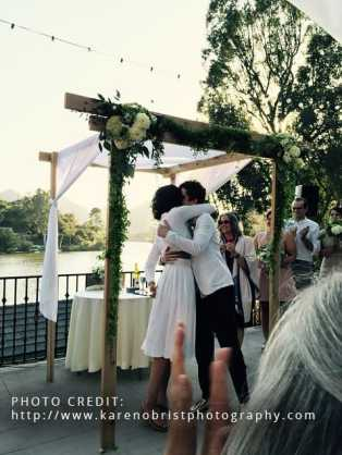 Rabbi Debra Kolodny | As the Spirit Moves Us. Andrea and Tanya Wedding. Photo by Karen Obrist.