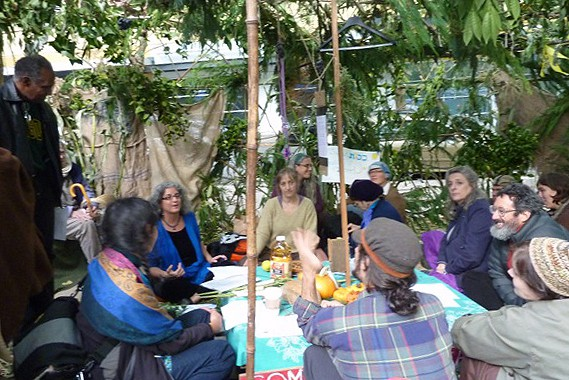 Rabbi Debra Kolodny | As the Spirit Moves Us. Occupy Portland Sukkah - Rabbi Debra Teaching