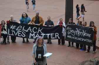 Black Lives Matter Rally. RABBI DEBRA KOLODNY - AS THE SPIRIT MOVES US