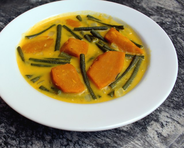 Squash and Yardlong Beans in Coconut Stew