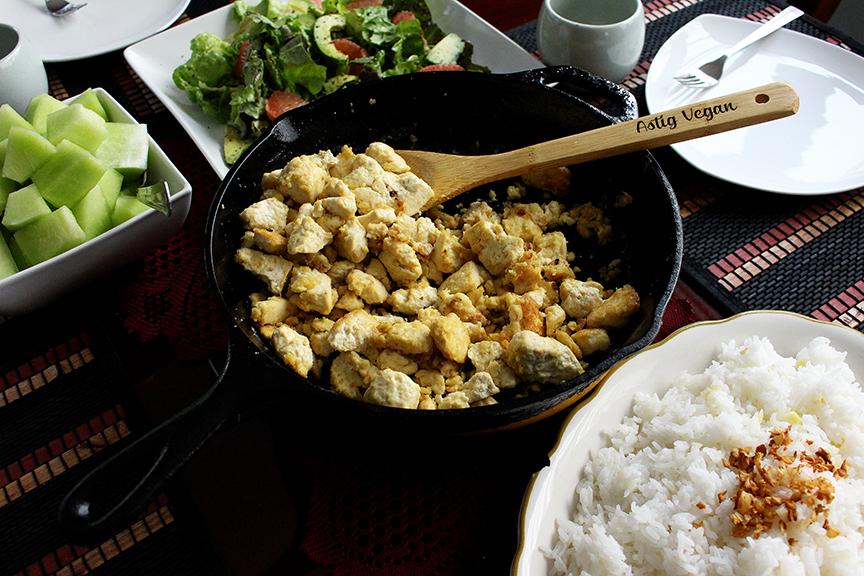 vegan egg scramble wide