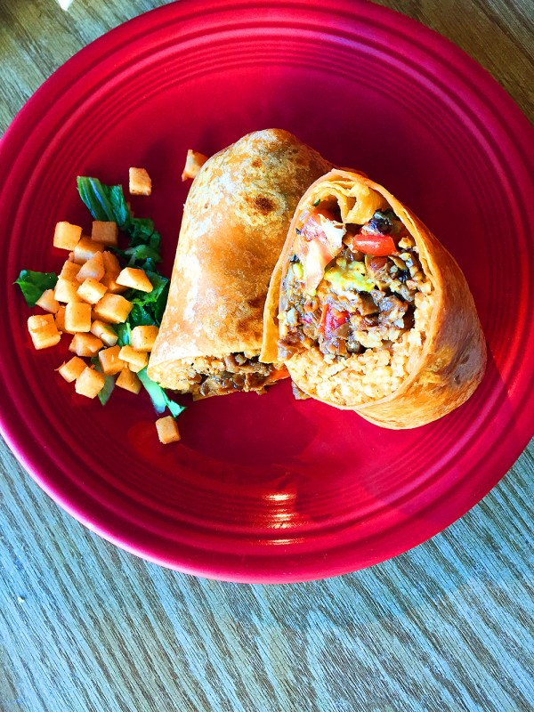 Astig Vegan and Papalote's Vegan Sisig Burrito