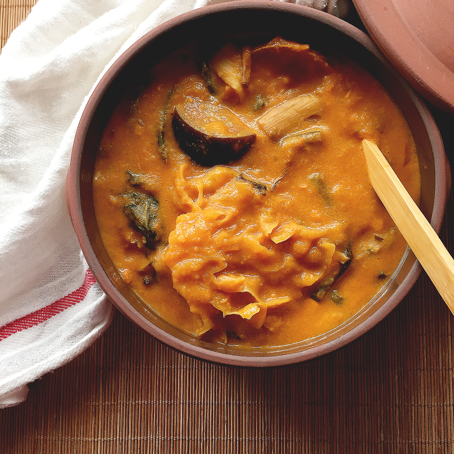 Vegan Kare Kare Filipino Vegetable Stew In Peanut Based Sauce