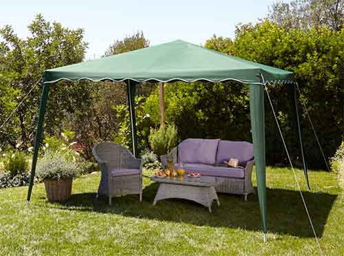 outdoor furniture and gazebos that look