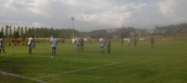 El Santa Ana FS sorprendió al filial de la SD Ponferradina con un gol de Peki. / AF.