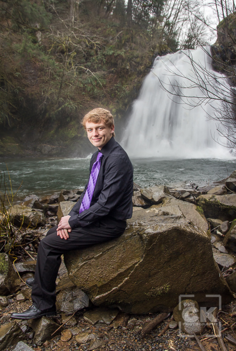 Astoria Senior Photography - guy portraits Young's River Falls