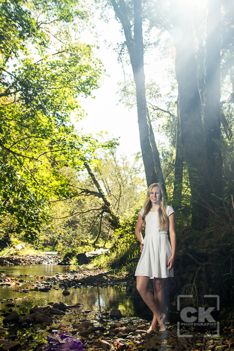 Astoria Senior Photography - Knappa High School girl portraits horse dress water