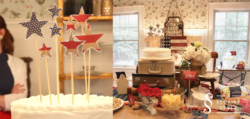 Vintage Americana Baby Shower Part 2 Food Party Pics A Storied