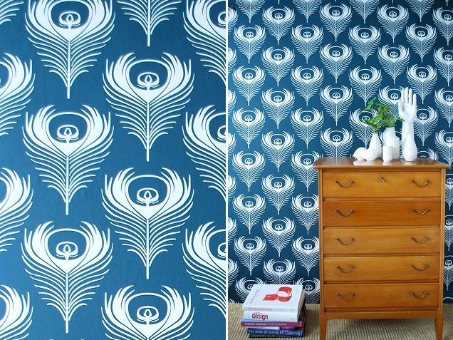 ferm living, feather wallpaper
