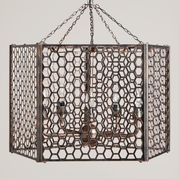 world market honeycomb chandelier
