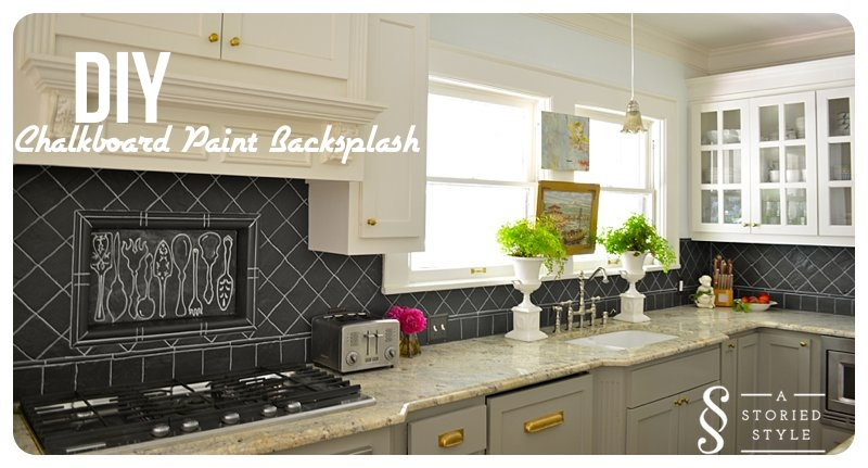 Diy Tutorial Chalkboard Paint Backsplash 250 Home Depot Gift