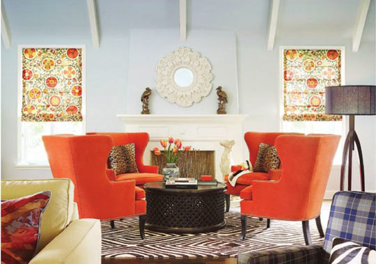 Conversation Seating - Four Chairs In The Round - A Storied Style